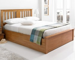 صورة Wooden Storage Bed