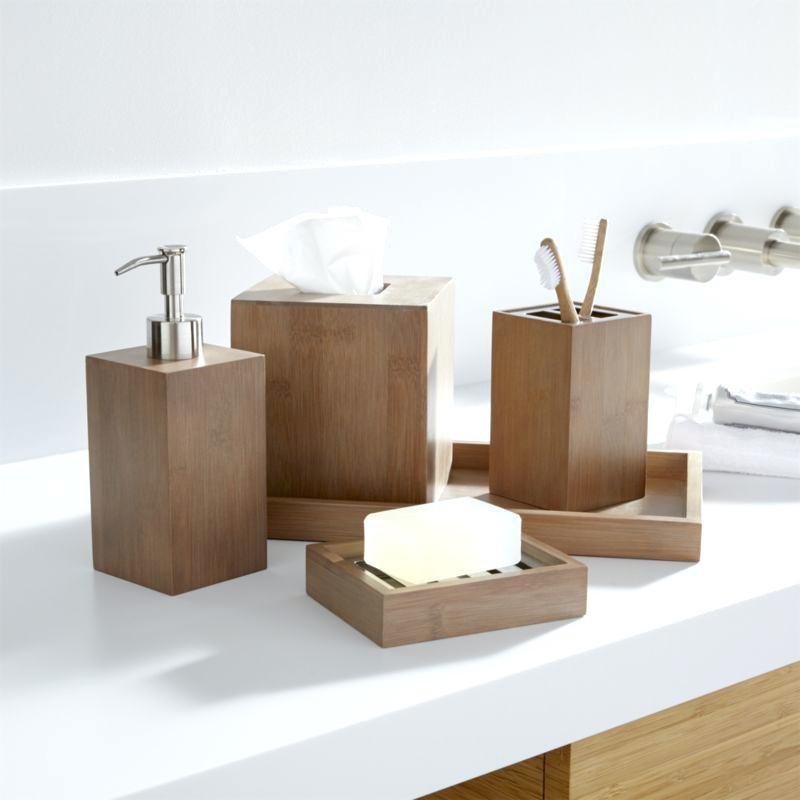 Wood Wooden Bathroom Accessories