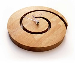 صورة Wooden Spiral Wall Clock